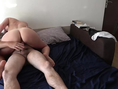First time fucked in her ass ! Big dick in her tight asshole