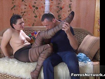 MaturesAndPantyhose Video: Elsa and Connor