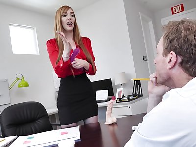 hot secretary Lauren Phillips adores copulation with her colleague in her office