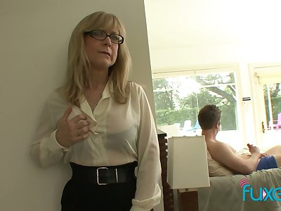 Adult action tittied stepmom caught the brush stepson jerking wanting hard fat cock