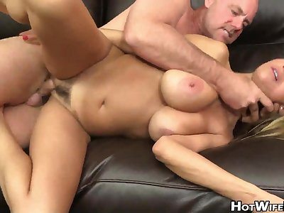 Busty blonde cougar exploitatory porn video