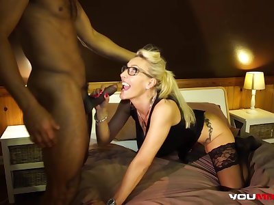 Lana Vegas Interracial sexual congress scene in hotel
