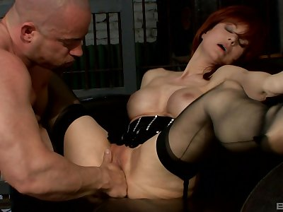Hairless dude doing exactly what Nina Stein needs be proper of an orgasm