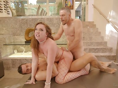 Milf takes on two big dicks like a pro