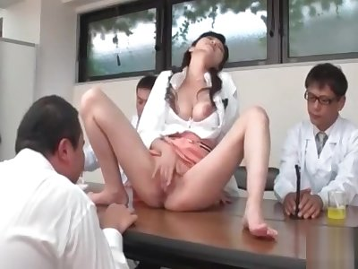 Sara Yurikawa enjoys a rough place gangbang