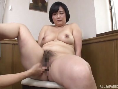 Japanese adult mill young inches in both her hairy holes