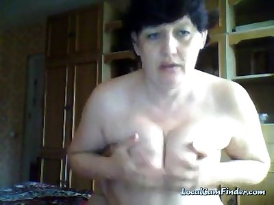 Old russian mom upstairs webcam