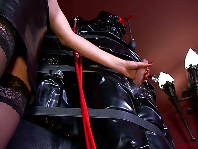 Lady Patricia together with kinky shake out punish affianced dude with unbridled handjob