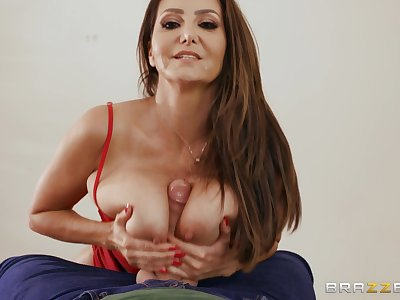 Busty mature Ava Addams gets her pussy pounded in many poses