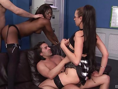 Best bow to destroy a work week is by having interracial foursome copulation