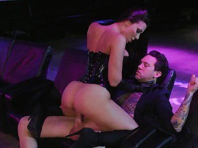 A unconstrained instalment of cock riding close by a top stripper