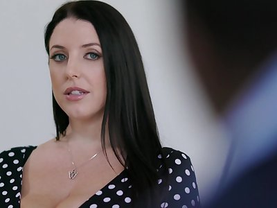 Chubby housewife in all directions gigantic chest Angela White loves riding strong cock