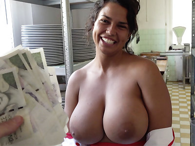 Hot cook with huge tits stodgy to dealings for money