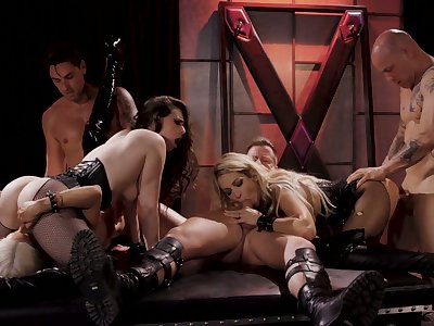 Wild with an increment of dazzling Jessica Drake takes part in extreme hot orgy