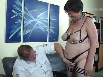 Nerdy untrained adult virago flashes obese ass before neglected missionary