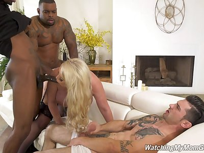 Anal-loving Alura Jenson's cuckold fuck about a handful of fabulous baleful lovers