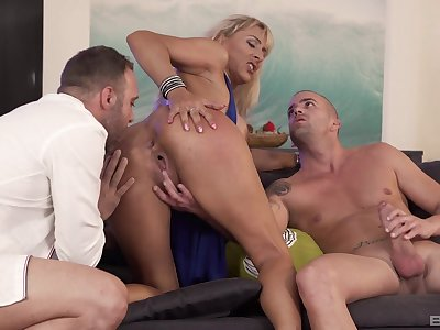 Whorish Lana Vegas is at her finest with yoke cocks in the room