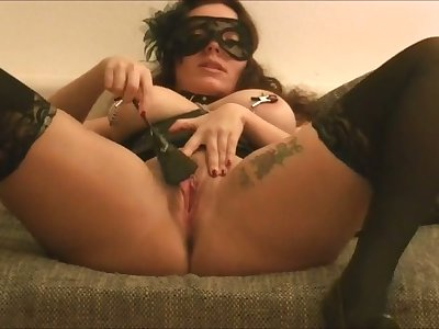 This is just fucking hot and I fancy how she fucks herself with her sex toy