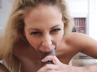 Hot blonde milf dildo first time Cherie Deville in