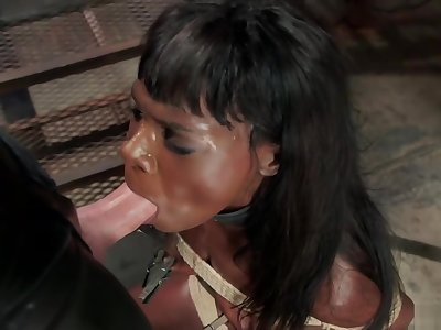 Ebony trainee fucked by big dick
