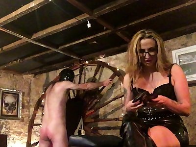More Amusement With Spanky bdsm villeinage following femdom domination