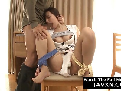 Amazing Japanese Hairy cunt Mommy Fucks Will not hear of Stepson