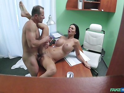 Big-breasted Jasmine Jae gets fucked good to the fore doc's office