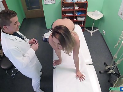 Seductive chick leaves her physician to bang her