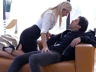 Hardcore fucking in doggy and missionary with secretary India Summer
